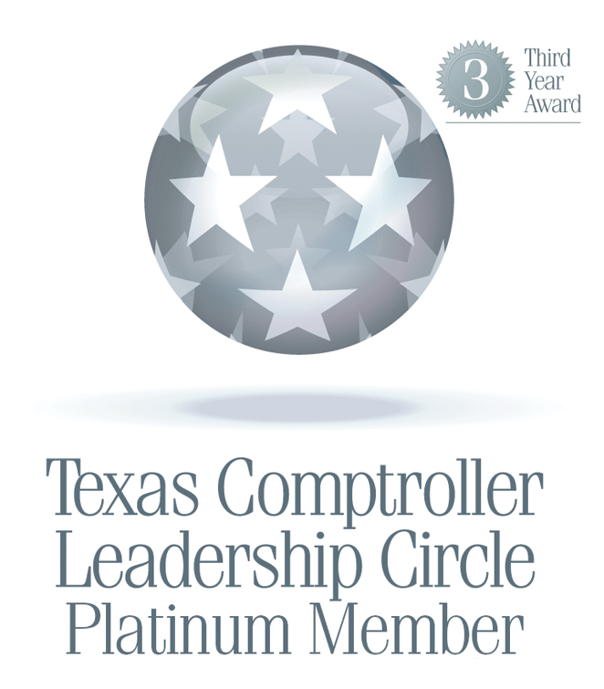 Texas Comptroller Leadership Circle Platinum Member