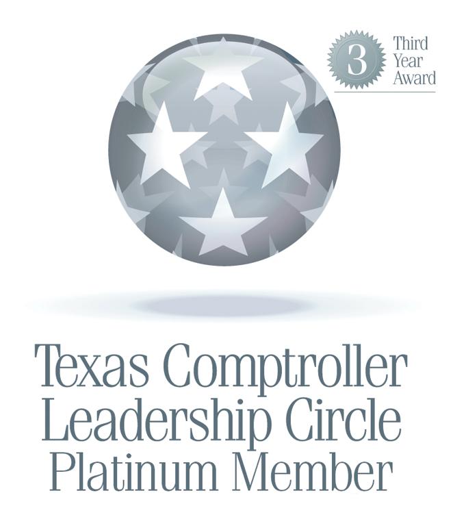 Texas Comptroller Leadership Circle Platinum Member