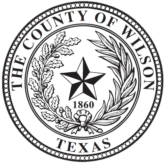 wilson county official seal, features the star of texas and olive branch